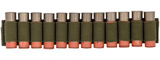 CA-383GN SHOTGUN SHELLS (12) HOLDER FOR SLING OR BELT (OD)