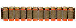 CA-383T SHOTGUN SHELLS (12) HOLDER FOR SLING OR BELT (TAN)