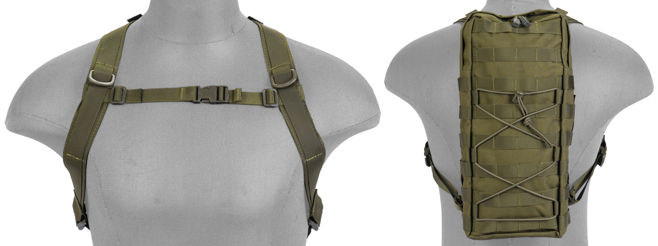 CA-384GN NYLON MOLLE ATTACHABLE HYDRATION BACKPACK (OD)