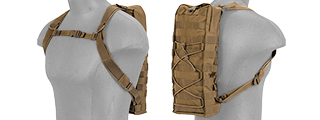 CA-384T MOLLE ATTACHABLE HYDRATION BACKPACK (TAN)