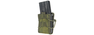 LANCER TACTICAL SINGLE MOLLE MAGAZINE POUCH FOR M4 / M16 (OD GREEN)