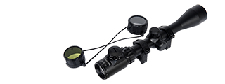 Lancer Tactical CA-406B 3 - 9x Red & Green Illumintated Rifle Scope