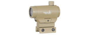 "CA-407T MINI RED & GREEN DOT SIGHT w/1"" RISER MOUNT (COLOR: TAN)"