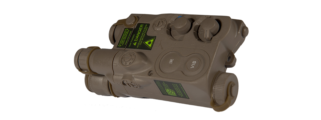 AN/PEQ-16 BATTERY CASE (COLOR: DARK EARTH)