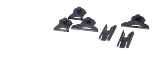 Lancer Tactical CA-718B Helmet Goggle Swivel Clips - Black