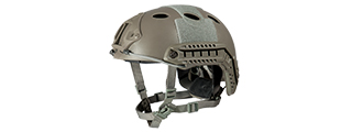 "HELMET ""PJ"" TYPE (COLOR: FOLIAGE GREEN) SIZE: MED/LG"