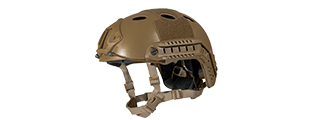 "HELMET ""PJ"" TYPE (COLOR: DARK EARTH) SIZE: MED/LG"