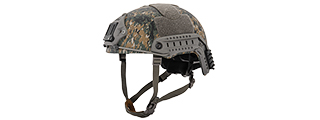 CA-726W BALLISTIC MH-TYPE HELMET (DIGITAL WOODLAND), L/XL