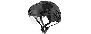 Lancer Tactical CA-740B FAST Helmet w/ Retractable Visor in Black (Basic Version)