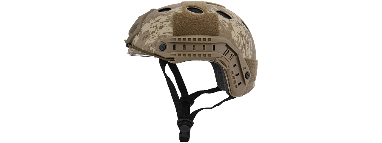 Lancer Tactical CA-740D HELMET w/ Retractable Visor in Desert Digital (Basic Version)