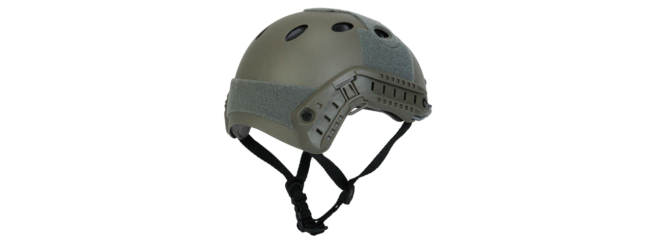 "CA-740G HELMET PJ TYPE ""BASIC VERSION w/VISOR"" (COLOR: FOLIAGE GREEN) SIZE: MEDIUM"