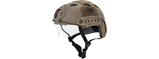 CA-740N FAST PJ TYPE TACTICAL GEAR HELMET W/VISOR (CUSTOM DE)