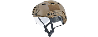 "CA-740T HELMET PJ TYPE ""BASIC VERSION w/VISOR"" (COLOR: DARK EARTH) SIZE: MEDIUM"