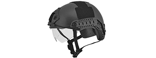"CA-741B HELMET BALLISTIC TYPE ""BASIC VERSION w/VISOR"" (COLOR: BLACK) SIZE: MEDIUM"