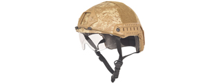 Lancer Tactical CA-741D Ballistic Helmet w/ Retractable Visor (Basic Version) in Desert Digital