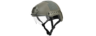 "CA-741G HELMET BALLISTIC TYPE ""BASIC VERSION w/VISOR"" (COLOR: FOLIAGE GREEN) SIZE: MEDIUM"