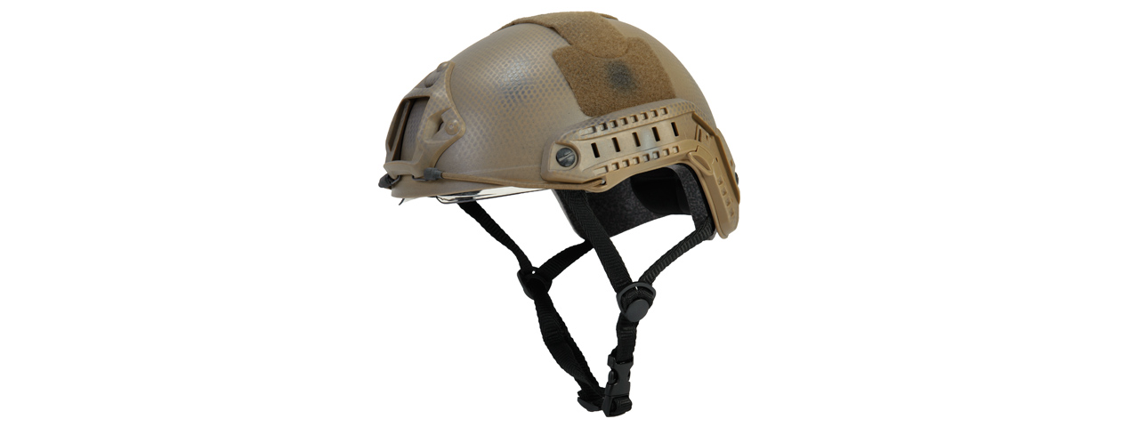 Lancer Tactical CA-741N Ballistic Helmet w/ Retractable Visor (Basic Version) in Custom Dark Earth