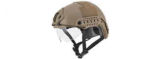 "CA-741T HELMET BALLISTIC TYPE ""BASIC VERSION w/VISOR"" (COLOR: DARK EARTH) SIZE: MEDIUM"