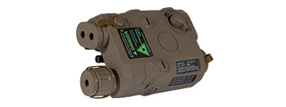 PEQ-15 BATTERY CASE + GREEN LASER (COLOR: DARK EARTH)