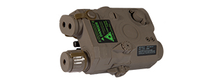 PEQ-15 LA-5 BATTERY CASE + GREEN LASER (COLOR: DARK EARTH)