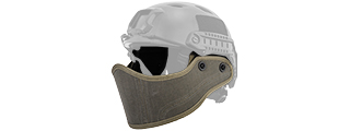 Lancer Tactical CA-801G HELMET Armour Face in OD Green