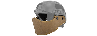 Lancer Tactical CA-801T HELMET Armour Face in Tan