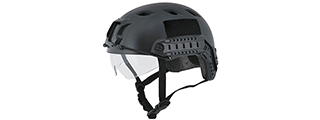 "CA-842B HELMET BJ TYPE ""BASIC VERSION w/VISOR"" (COLOR: BLACK) SIZE: MEDIUM"