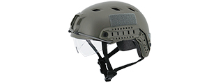 "CA-842G HELMET BJ TYPE ""BASIC VERSION w/VISOR"" (COLOR: OD GREEN) SIZE: MEDIUM"
