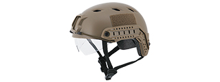 "CA-842T HELMET BJ TYPE ""BASIC VERSION w/VISOR"" (COLOR: TAN) SIZE: MEDIUM"