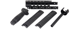 Cyma CM-C52 MK5 Aluminum RIS Hand Guard with Rail Covers and Metal Outer Barrel