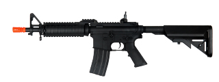 Cyma CM005 M4 R.I.S. Metal Gear AEG, Crane Stock, Rear Flip Sight, Black