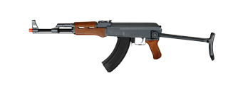 Cyma CM028S AK47S Auto Electric Gun Metal Gear, ABS Body, ABS Wood, Metal Under Folding Stock
