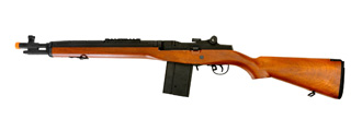 "LANCER TACTICAL LT-732 FULL STOCK 37"" M14 SOCOM AIRSOFT AEG (FAUX WOOD)"