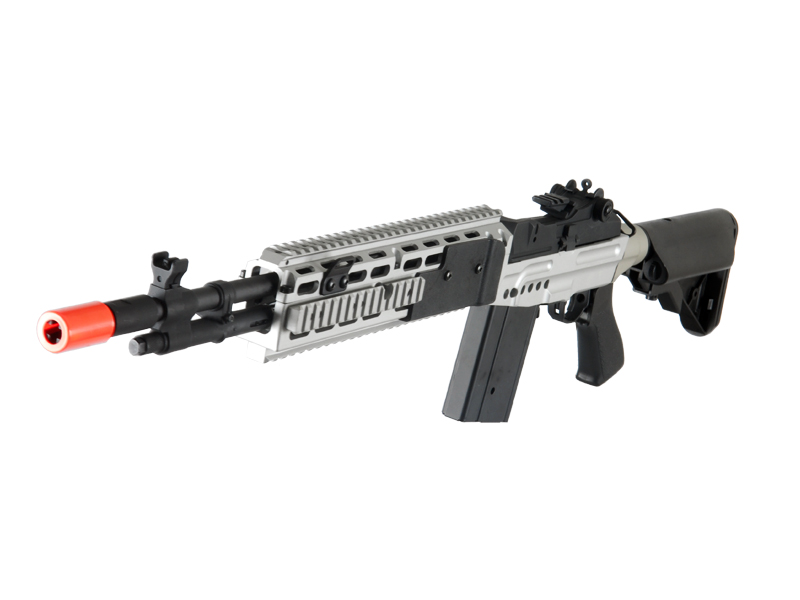 Cyma CM032EBR-S M14 EBR RIS AEG Metal Gear, Full Metal Body, Adjustable Crane Stock in Silver