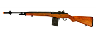 "LANCER TACTICAL LT-732 FULL STOCK 44"" M14 SOCOM AIRSOFT AEG (FAUX WOOD)"