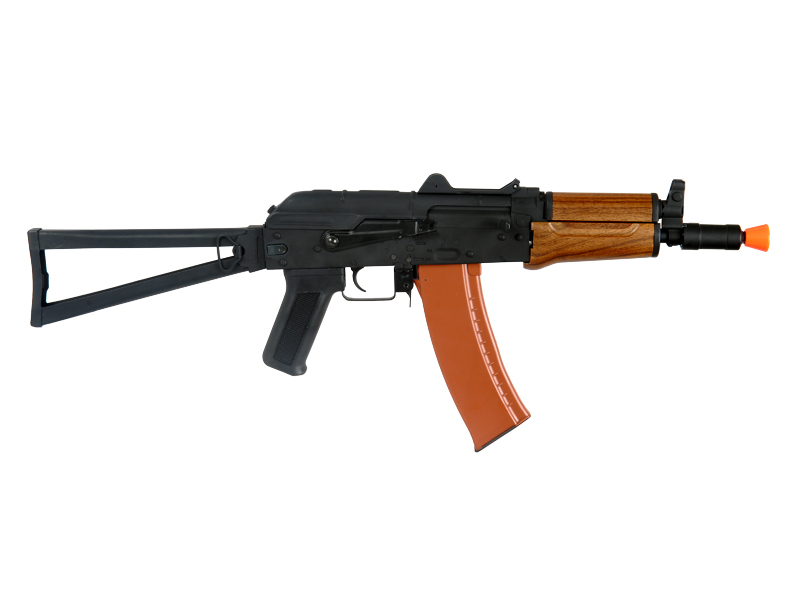 Cyma CM035 AKS-74U AEG Metal Gear, Full Metal Body, ABS Wood, Metal Side Folding Stock