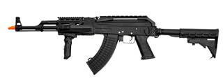 Cyma CM039C Tactical AK47 RIS AEG Metal Gear, Full Metal Body, Retractable LE Stock, Folding Vertical Foregrip
