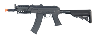 CYMA CM040H AKS-74UN FULL METAL AEG w/QUAD RAIL & RETRACTABLE CRANE STOCK (COLOR: BLACK)