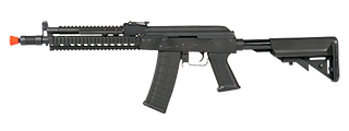 CYMA CM040I AK-74 BETA FULL METAL AEG w/GAS BLOCK & HANDGUARD RAIL (COLOR: BLACK)