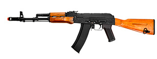 Cyma CM048 AK-74 AEG Metal Gear, Full Metal Body, Real Wood, Fixed Stock