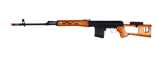 Cyma CM057 AK SVD AEG Metal Gear, Full Metal Body, Real Rood Stock and Handguard, Removable Cheek Rest