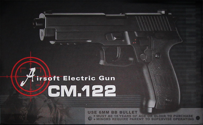 Cyma CM122 SG Auto Electric Pistol AEP, Full Metal Body