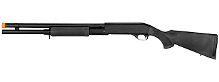 CM350LMN M870 SHOTGUN LONG BARREL w/FULL STOCK & METAL BARREL (BLACK)