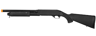 CM350MN M870 SHOTGUN w/FULL STOCK & METAL BARREL (BLACK)