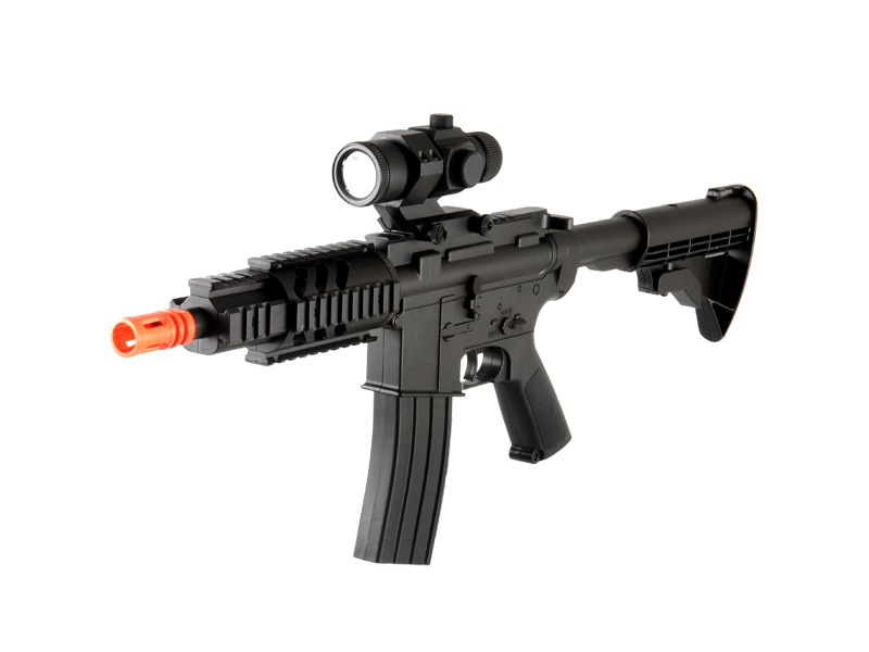 UKARMS D2806 M4 CQB RIS Auto Electric Gun Plastic Gear Adjustable LE Stock