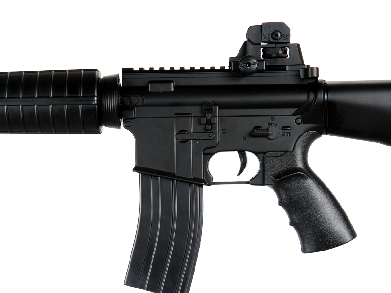 WELL AIRSOFT M4 AEG CARBINE ASSAULT RIFLE FIXED STOCK - BLACK