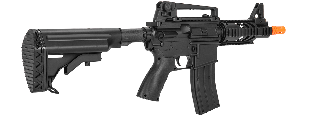 Well D3809 M4 CQB RIS AEG Plastic Gear, ABS Body w/ Adjustable Crane Stock