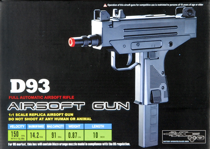 Well D93 Uzi Automatic Pistol