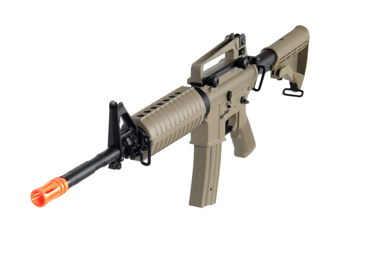 JG AIRSOFT F6604 M4A1 AEG CARBINE RIFLE W 400 FPS METAL GEARBOX - TAN