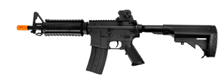 Golden Eagle JG F6624 Super Enhanced M4 CQB RIS AEG Metal Gear, Polymer Body in Black